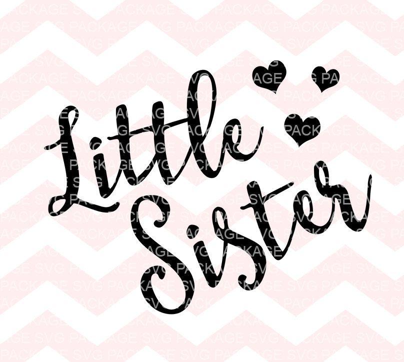 Image result for free big sister svg files Sisters, Big