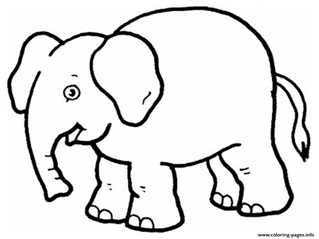 Print Elephant Preschool S Zoo Animals0d63 Coloring Pages