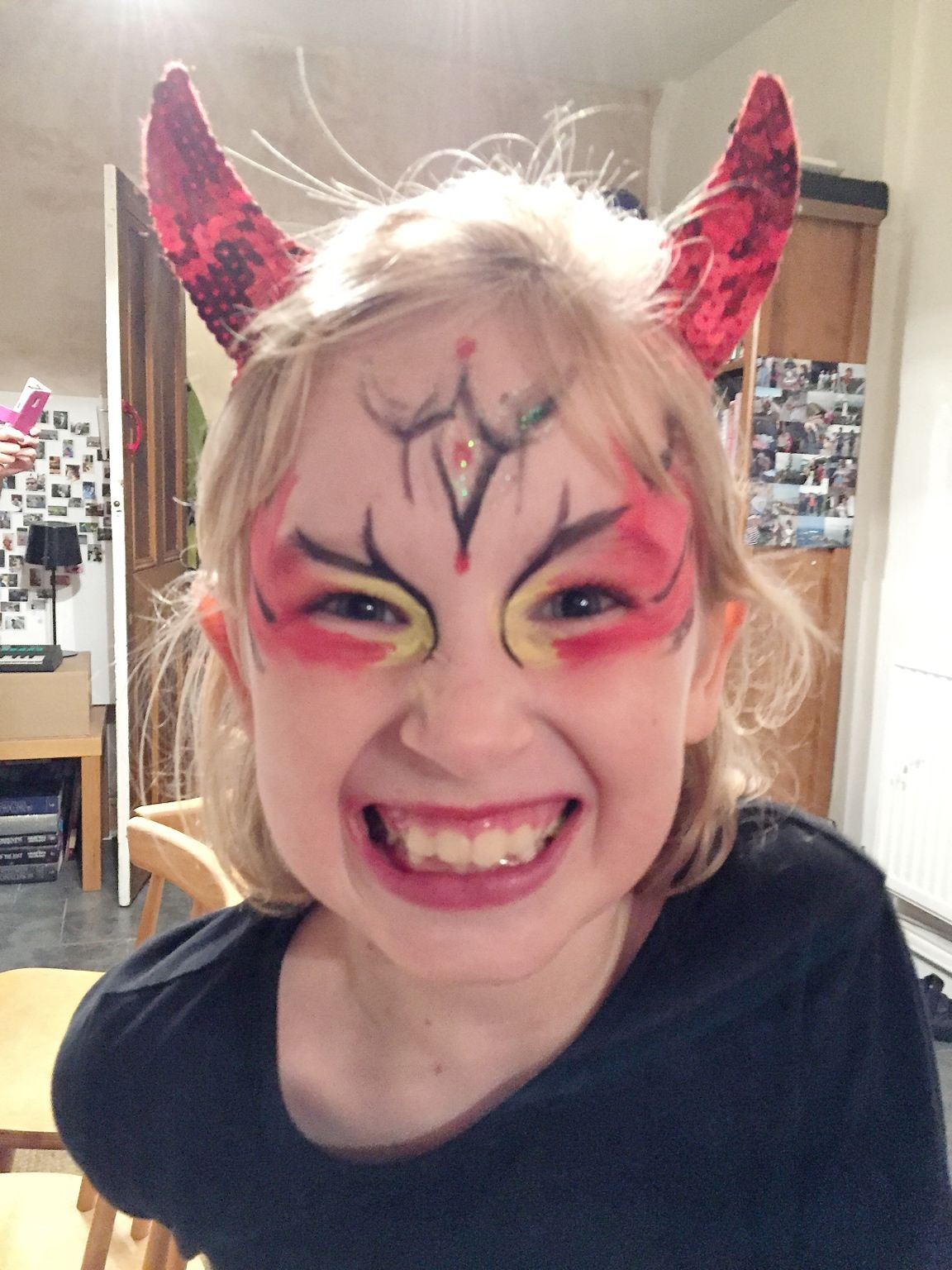 Uncategorized Baby Face Painting Ideas For Halloween child devil face paint ideas halloween fancy dress and ideas