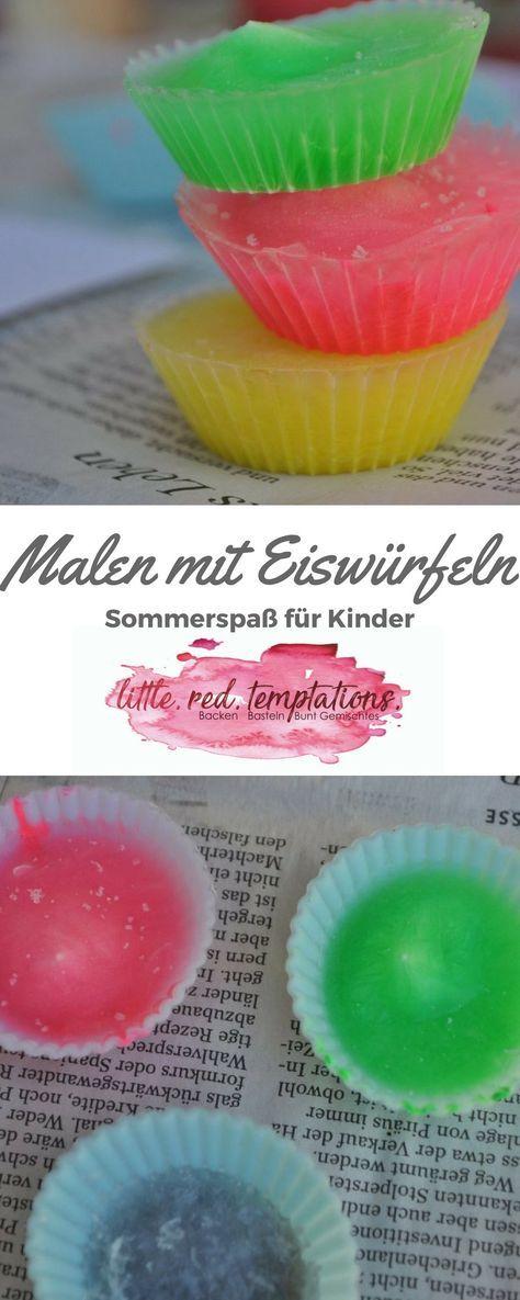Gesundbastelideen für Kinder: Malen mit Eiswürfeln - little. red. temptations.