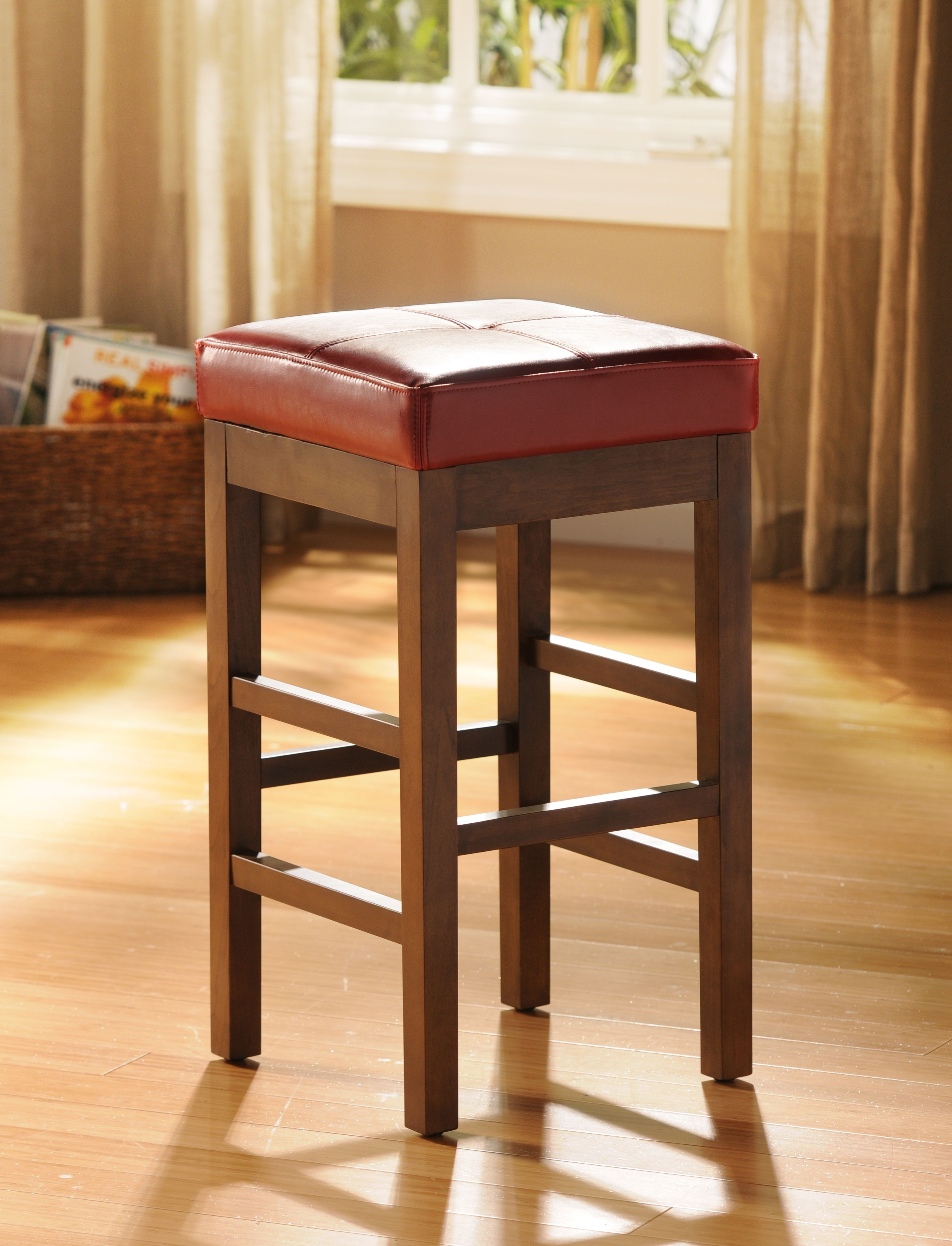 love this red valencia bar stool kirklands redradiance