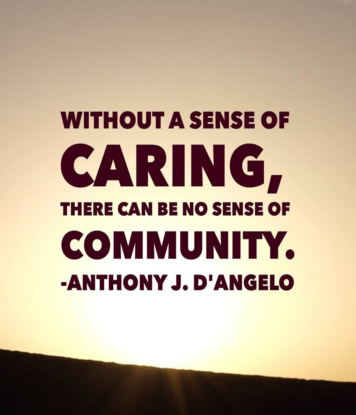 Community Quotes Without A Sense Of Caring There Can Be No Sense Of Community
