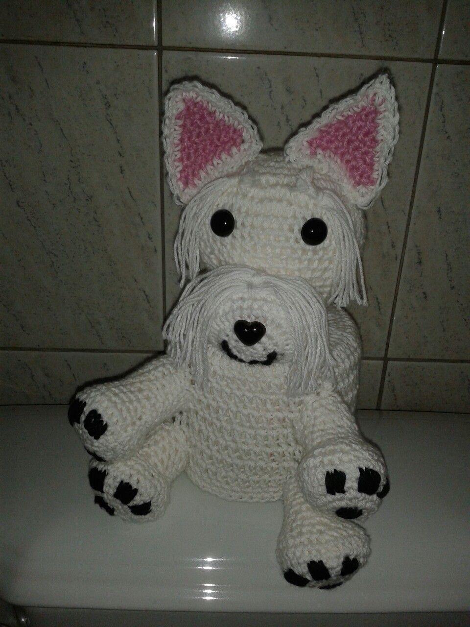 Klohut West Highland Terrier Meine Gehäkelten Klohüte Pinterest