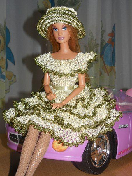 Наши куклы Барби   Puppen   Häkeln, Barbie kleider und Stricken