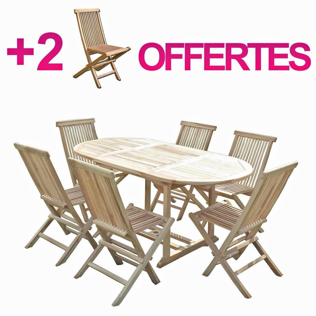 teck jardin 2 chaisesBundle Ensemble de en 6 salon SOLO f7yYgvb6