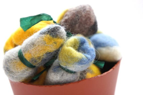Cat toy dodo from felted wool. handmade ecological by kivikis $5.00
