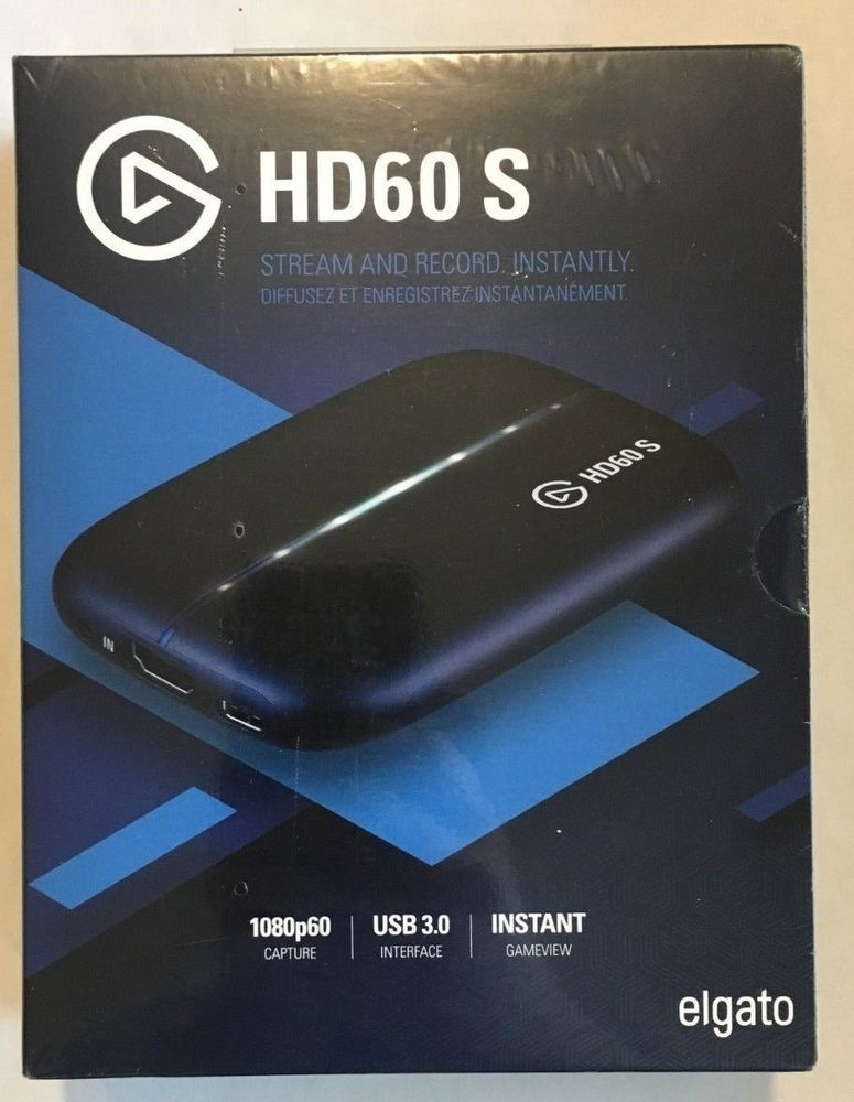 ELGATO HD60S Game Capture Record Stream Video Game Play HD60