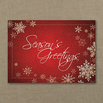 Seasons greetings snowflakes holiday card available at explore business christmas cards and more seasons greetings m4hsunfo