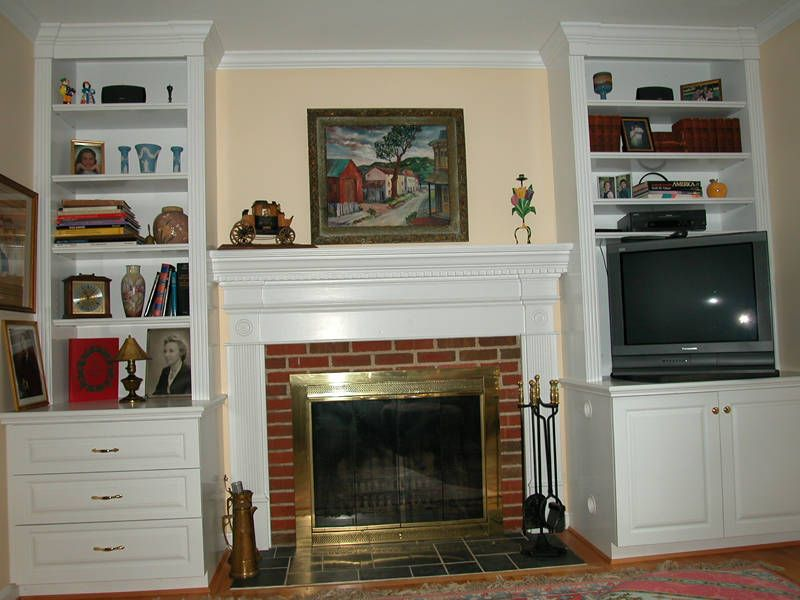 Bookcases For Either Side Of Fireplace Fireplace Surrounded By - Fireplace with bookshelves