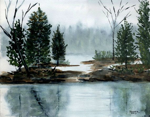 Watercolor Print Fine Art Print Watercolor Landscape Painting