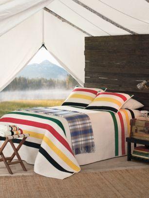 Glacier National Park Pieced Quilt Set In 2021 Pendleton Blanket Bedroom Home Striped Quilt