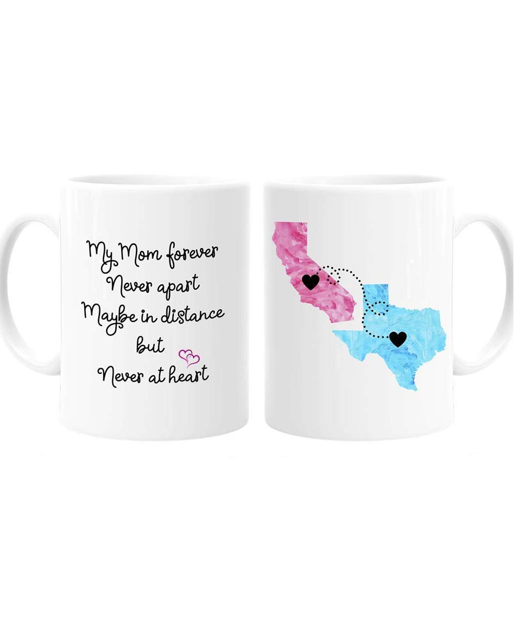 56e39baa459 15 Personalized Gifts for Mom   Do you and your mom live in different  states? Show her that distance makes the heart grow fonder with this  adorable mug.