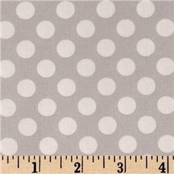 Light grey polka dot fabric