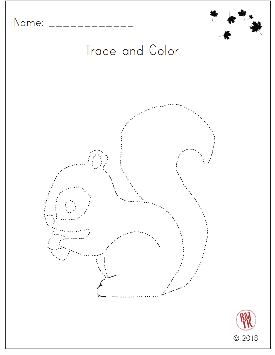 Squirrel Tracing For Fall Free For Now Fall Tpt Kindergarten Preschool Squirrel Animals Free Tracing Worksheets Fall Kindergarten Kindergarten Skills [ 1216 x 942 Pixel ]