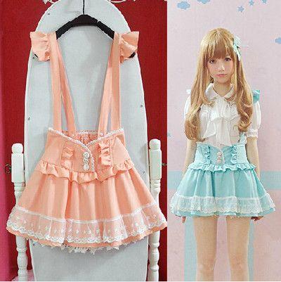 "Cute braces skirt fashion skorts SE9968 Coupon code ""cutekawaii"" for 10% off"