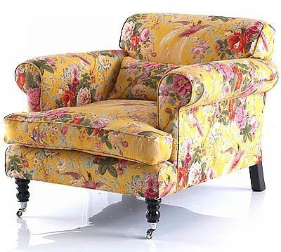 Floral chintz sofa country english pretty yellow for Chintz couch
