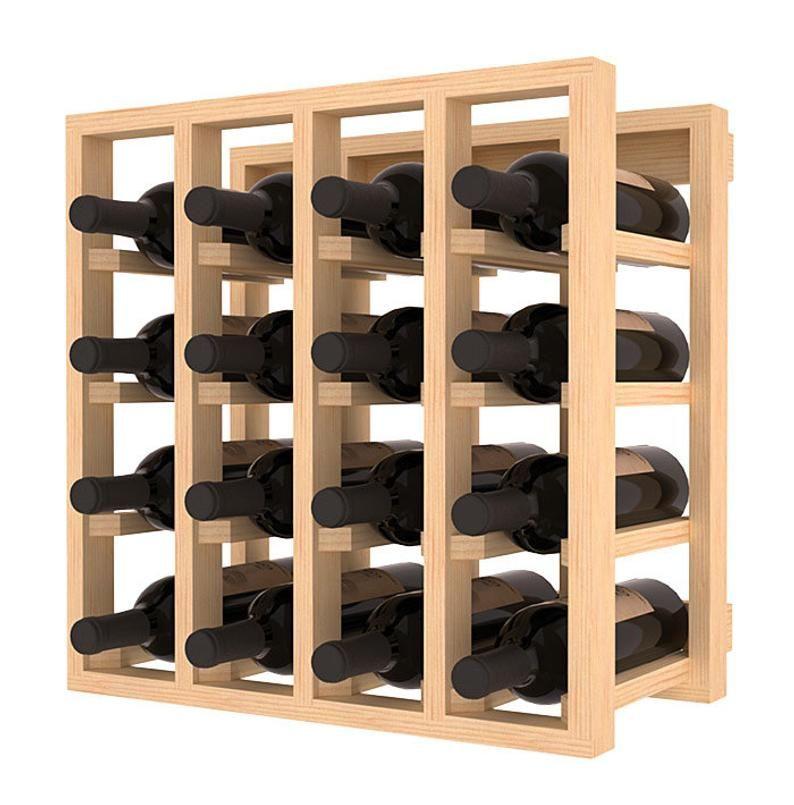 Kit De Rack De Almacenamiento De Cubiculos De Vino De 16 Botellas