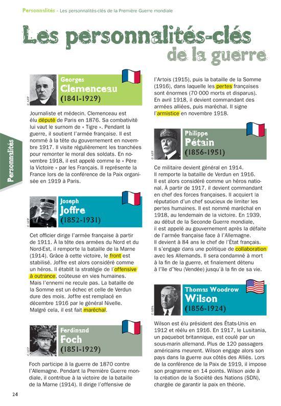 Les Personnalites Cles De La Guerre Brevet Histoire Histoire
