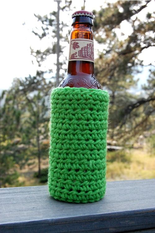 Crochet Bottle Cozy Pattern Its New And Different Blog Crochet