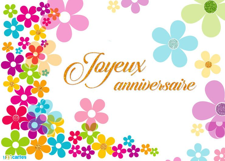 Sehr Joyeux anniversaire flower power | Bon anniversaire | Pinterest  RO54