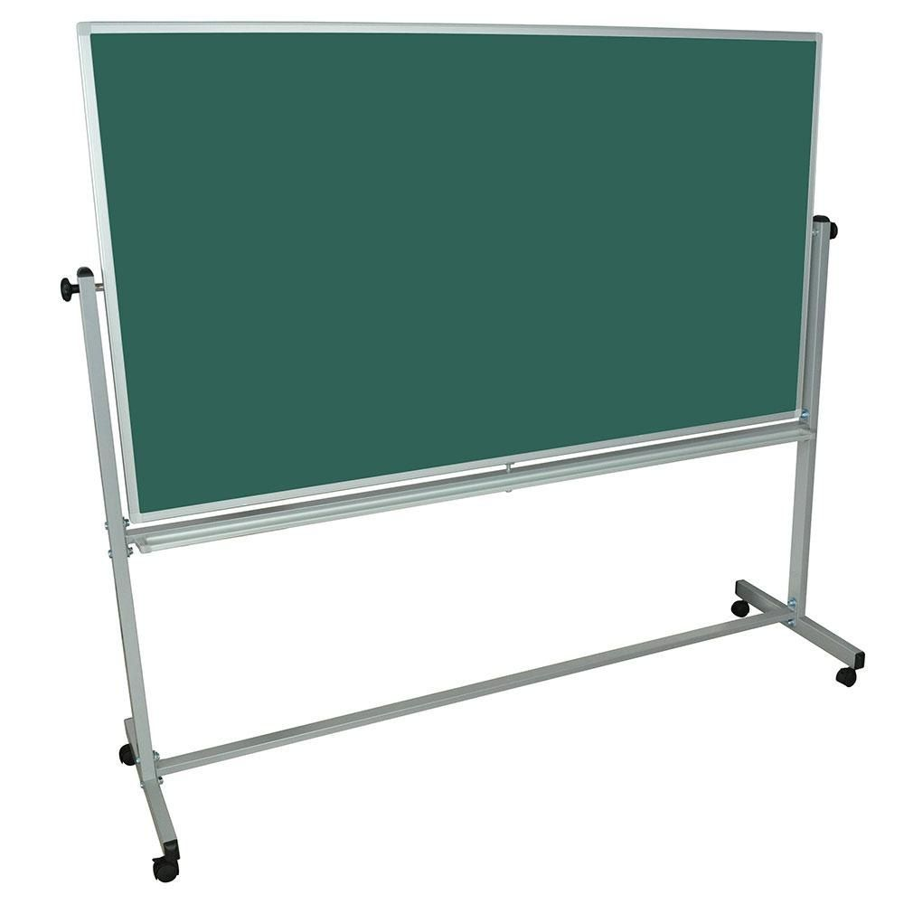 Luxor Mb7240 72 X 40 Double Sided Magnetic Whiteboard Chalkboard And Stand Magnetic White Board White Board Chalk