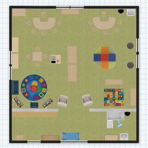 Toddler Classroom Floor Plan Piece By Piece Academy Pinterest