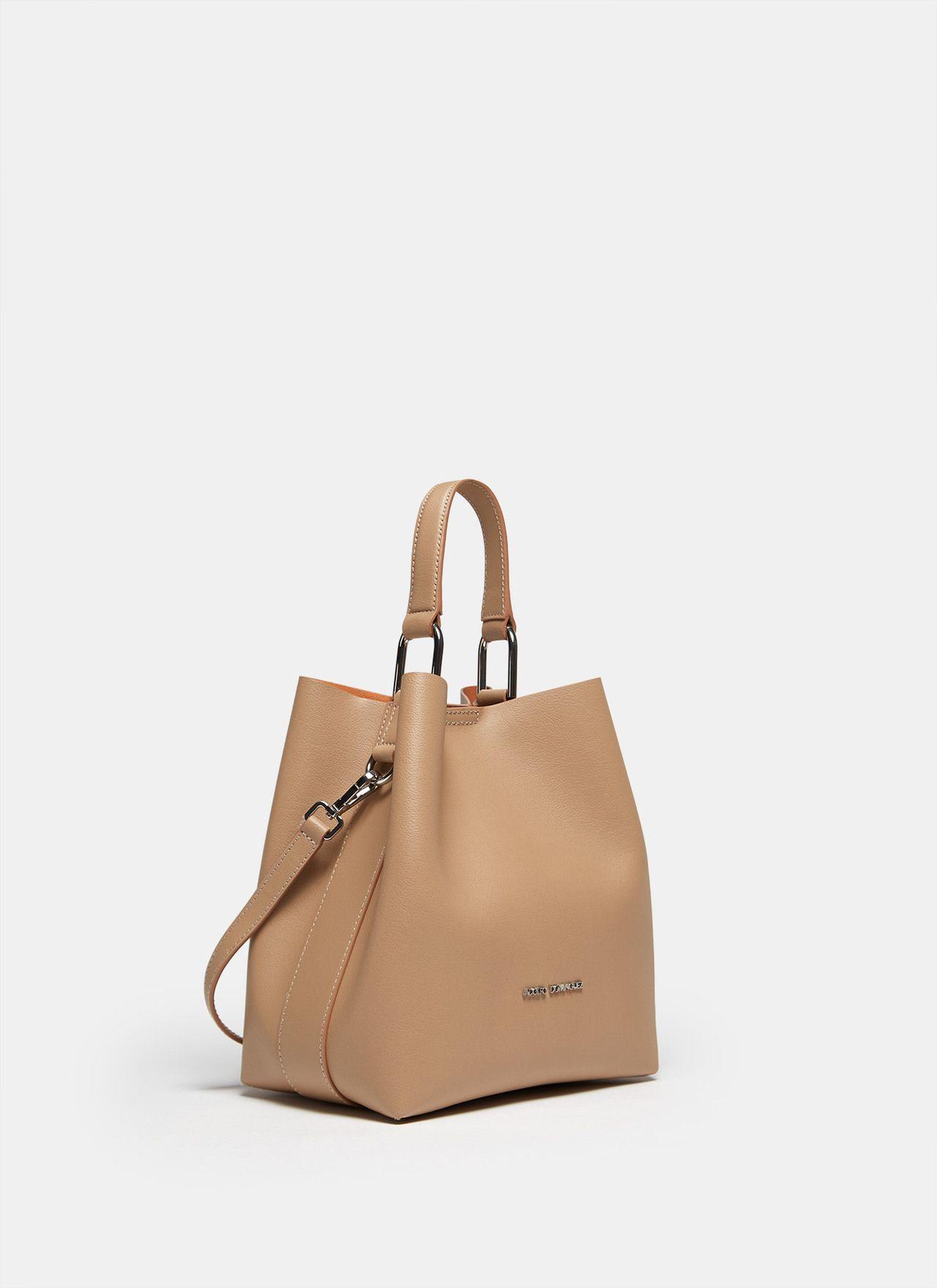 a592a8d93 Bolso cubo de piel vaqueta - Para ella | Adolfo Dominguez shop online