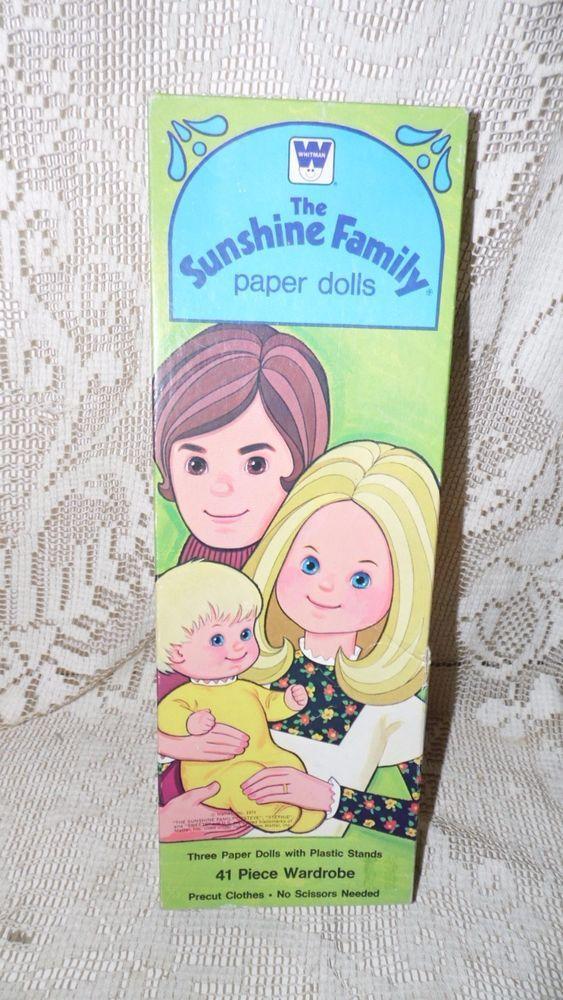 VINTAGE WHITMAN MATTEL THE SUNSHINE FAMILY PAPER DOLLS IN ORGIN BOX 1974 #MattelTheSunshineFamilyPaperDoll