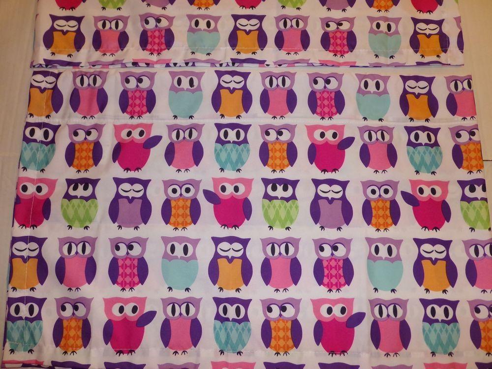 Springs Global Multi Color Owls Window Valances Curtains SpringsGlobal Novelty