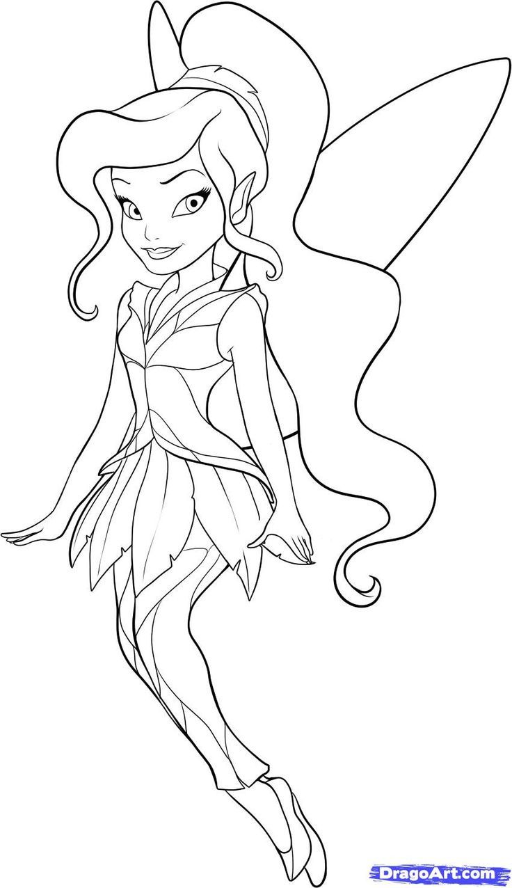 Tinkerbell Coloring Pages Image By Reneaper On Vidia Cute