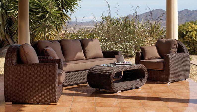 Set de sof s y sillones para exteriores modelo borsalino for Ofertas en muebles de terraza y jardin