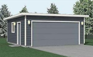Best 2 Car Flat Roof Garage Plan 400 1Ft 20 X 20 By Behm 640 x 480