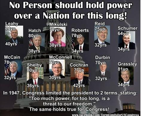 Term Limits Please!  #WakeUpAmerica @ericbolling #tcot #P2 @ChrsitChat @jjauthor @irisflower33 @LindaSuhler pjnet #2A