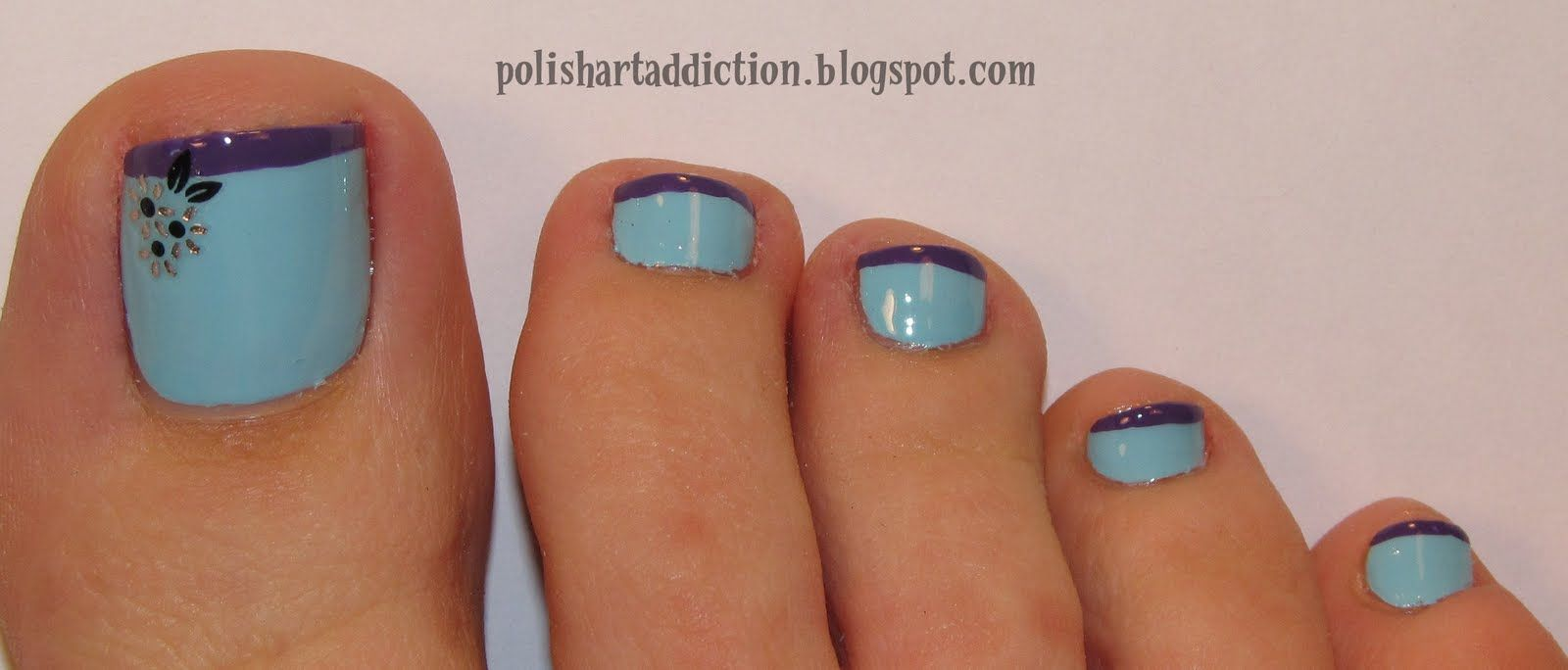 French Pedicure Flower Designs | Nail Arts | nail ideas | Pinterest