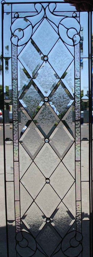 Classic Style  Beveled Textured Diamonds (Tudor Style)  Stained Glass Window (We do custom work! Please email me for a quick quote)