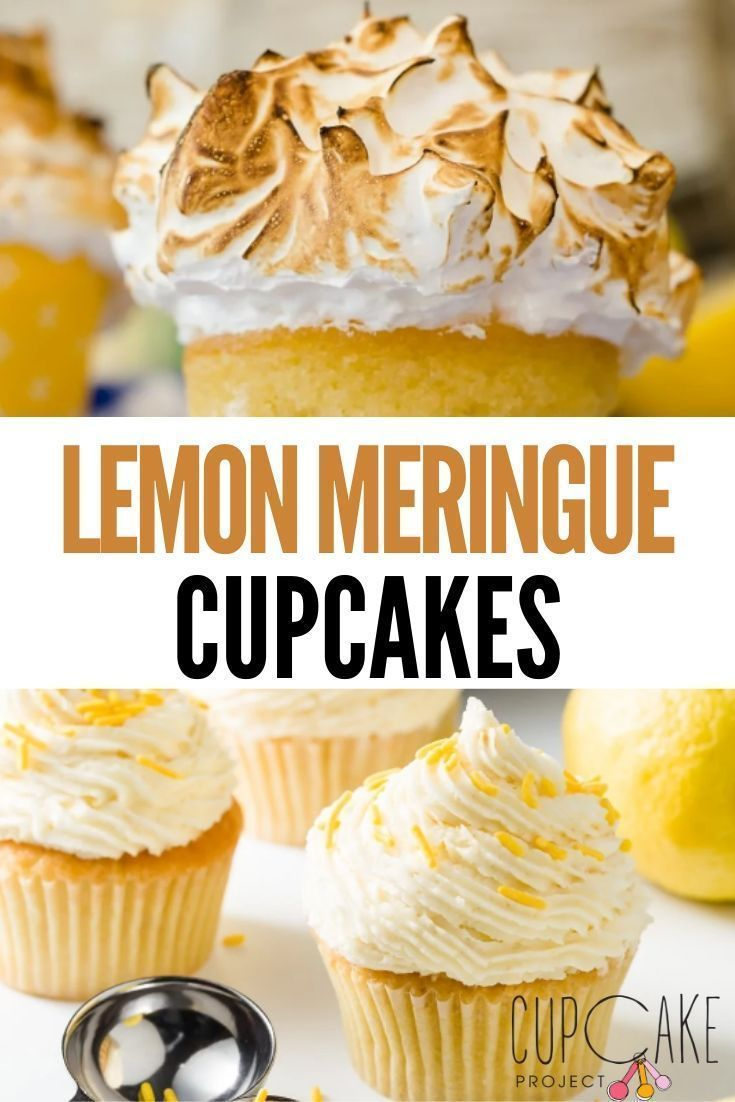 Mile-High Lemon Meringue Cupcakes | Cupcake Project #lemonmeringuecupcakes These lemon meringue cupcakes are so lemony and fresh! Like the pie, the cupcakes are piled high with meringue frosting. You'll want to make these lemon meringue cupcakes all spring and summer long! #Lemon #Cupcakes