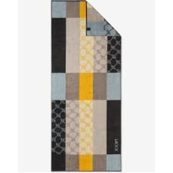 Photo of Statement Checked towel in graphite, gray patterned JoopJoop!