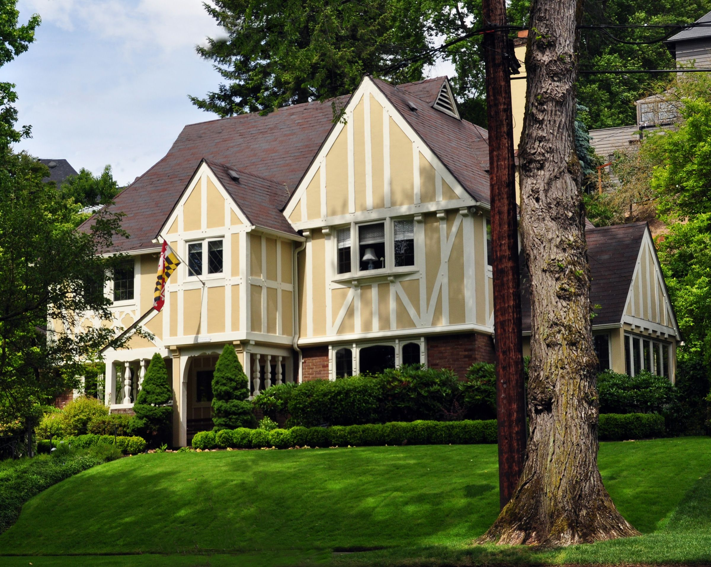 Tudor Revival Style House House Ideas Pinterest Tudor White Trim And House