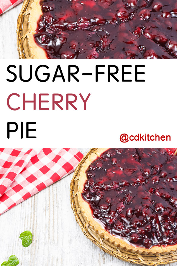 Sugar Free Cherry Pie Recipe | CDKitchen.com
