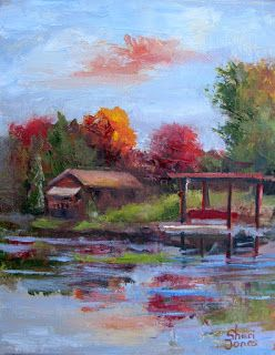 Where ART Lives Gallery Artists Group Blog: My Neighbor's House, Contemporary Landscape Painting by Sheri Jones