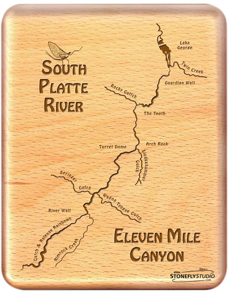 Fly Box Eleven Mile Canyon South Platte River Map Custom