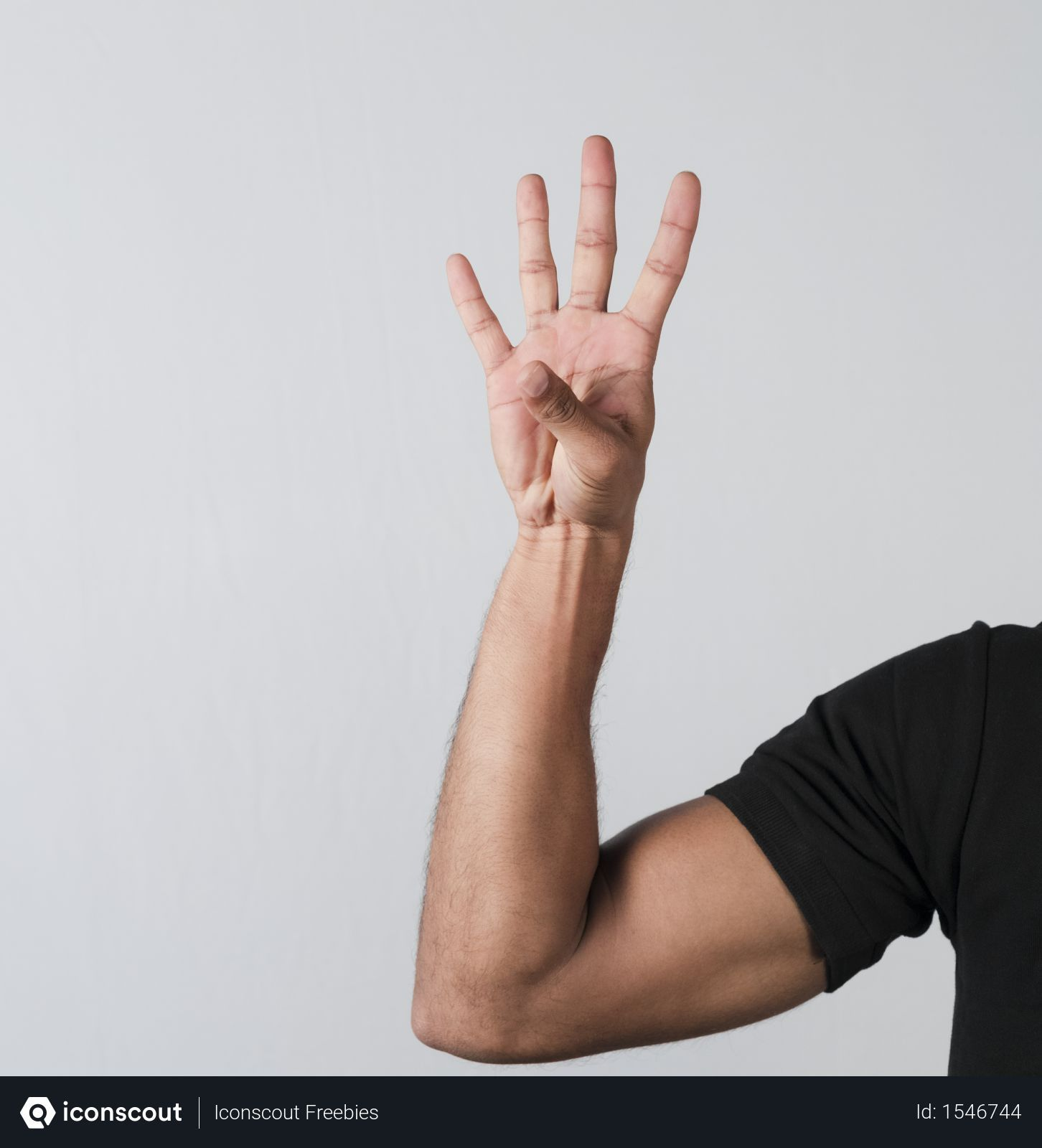Free Man Showing Number Four With Hand Photo Download In Png Jpg Format Hand Photo Photo Photoshop