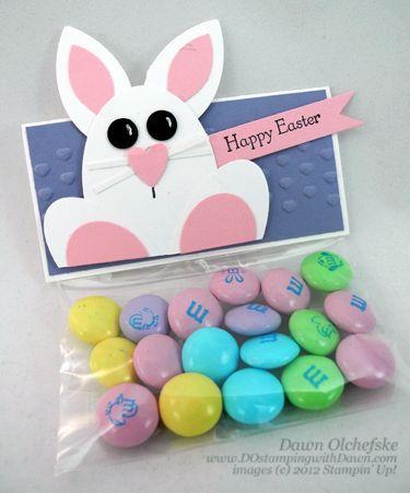 Easter Bunny Punch Art Treat Bag