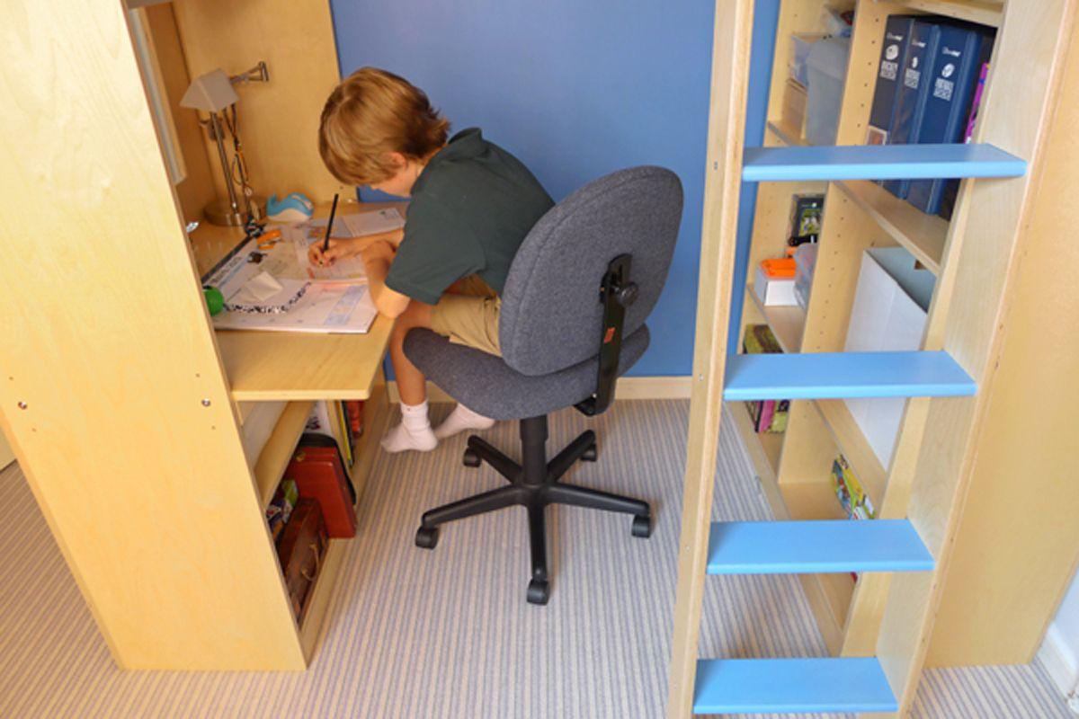 Loft bed with desk on bottom  casa kids baltic birch ply  kids rooms  Pinterest  Birch ply