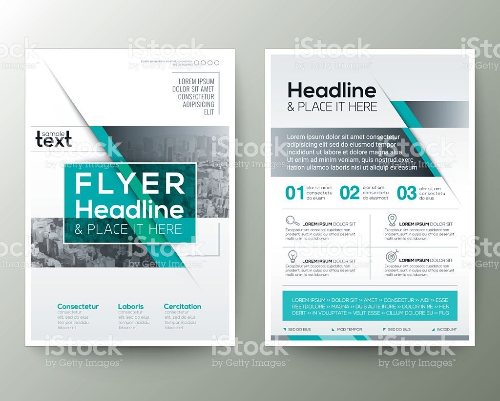 Poster Brochure Flyer design Layout vector template in A4 size ...