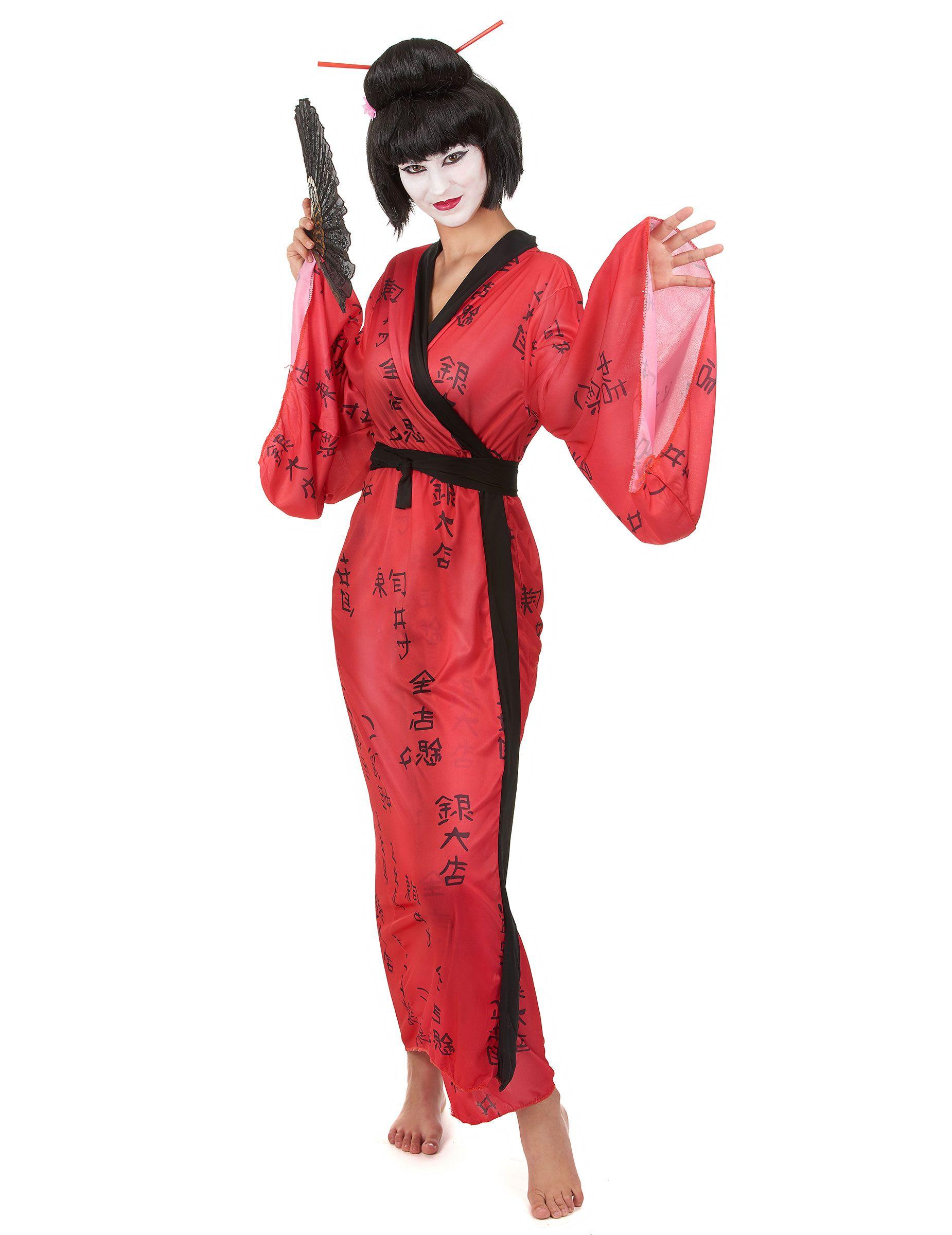 d guisement geisha femme deguisement geisha deguisement simple et eventail. Black Bedroom Furniture Sets. Home Design Ideas