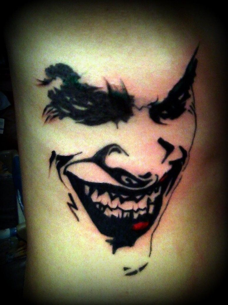 2e3b715d0 Cool colored smiling crazy Joker tattoo on arm - Tattoos photos ...