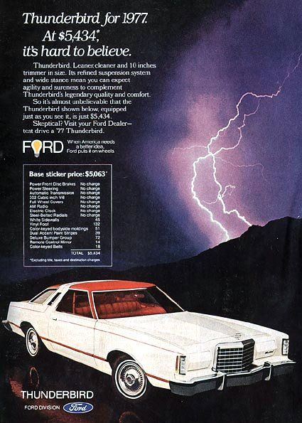 1977 ford thunderbird, how bout that price!