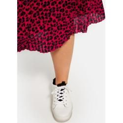 Photo of Pleated skirt with animal print red Gerry Weber
