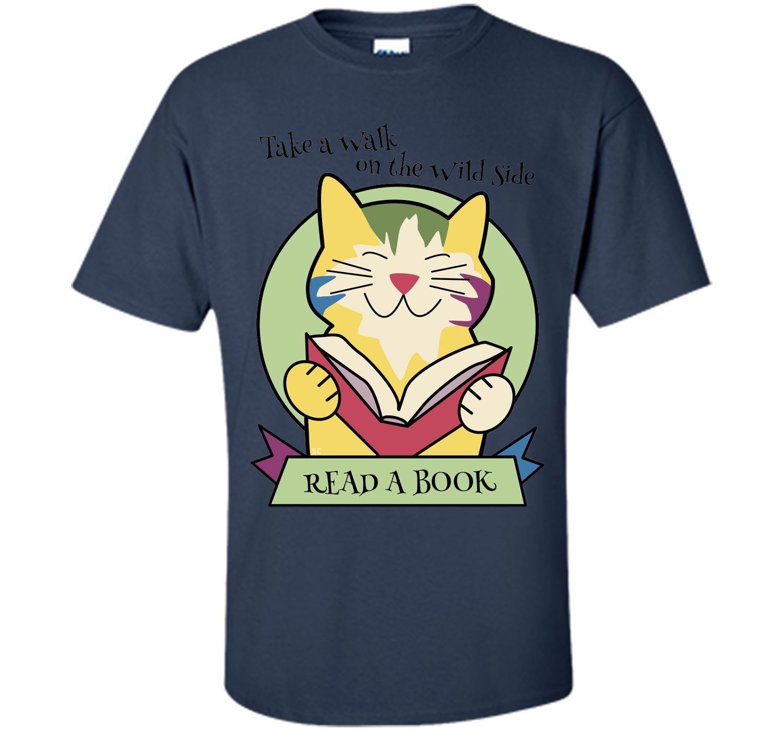 Read a Book Cat T-Shirt